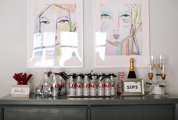 diet-coke-holiday-party-setup