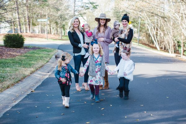 Bloggers Kate Brennan, Mallory Fitzsimmons and Cristin Cooper with their daughters