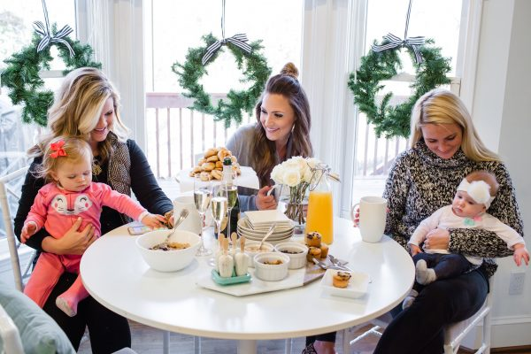 Bloggers Cristin Cooper, Mallory Fitzsimmons and Kate Brennan enjoy brunch together